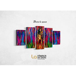 Cuadro Mujer Maravilla Tamaño 1 metro 10 de ancho x 50 de alto