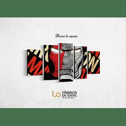 Cuadro Iron Man Letras  tamaño 1 metro 10 de ancho x 59 de alto