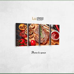 Cuadro para Restaurante tamaño 1 metro 5 cm de ancho x 50 de alto