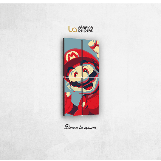 Cuadro Super Mario Bros Tamaño 100 de alto x 50 de ancho