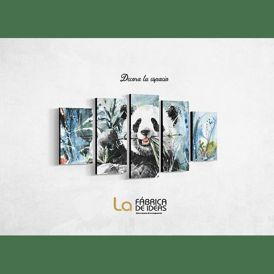 Cuadro Animales Oso Panda Tamaño 1 metro 10  de ancho x 50 de alto