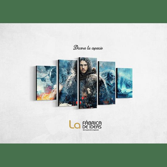 Cuadro Serie Game of Thrones Tamaño 1 metro 10 de ancho x 59 de alto