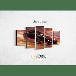 Cuadro Serie el Auto Fantástico Tamaño 1 metro 10 de ancho x 59 de alto