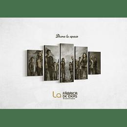 Cuadro serie The 100 Tamaño 1 metro de ancho x 59 de alto