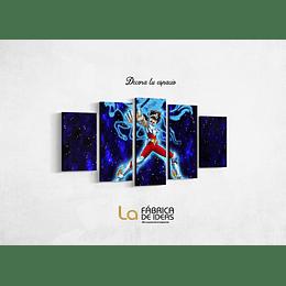 Cuadro Caballeros del Zodiaco Seiya de Pegaso Tamaño 1 metro 10 de ancho x 59 de alto