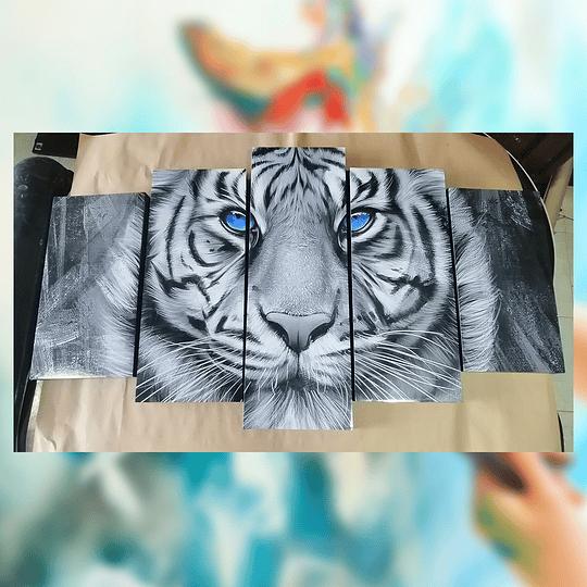 Tigre de animales Tigre  5 piezas tamaño 110 cm de ancho x 59 de alto