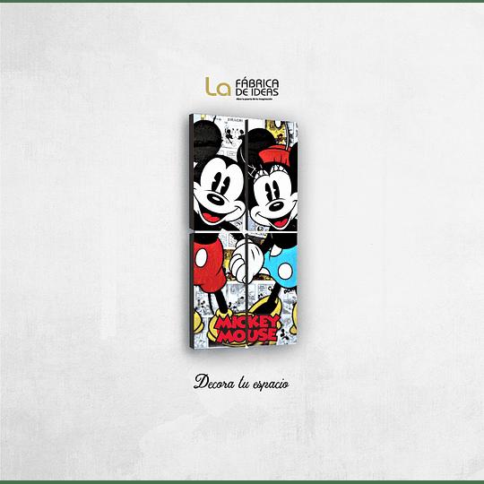 Cuadro MIckey y Minnie Disney Tamaño 1 metro 10 de ancho x 59 de alto