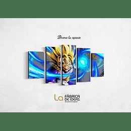 Cuadro Goku Dragon Ball Saiyayin  Tamaño 1 metro 10 de ancho x 59 de alto