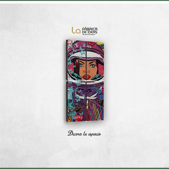 Cuadro Astronaita Pop Art Tamaño 1 metro 10 de ancho x 59 de alto