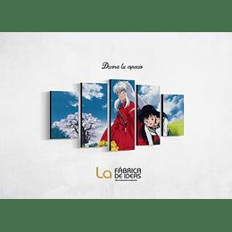 Cuadro Inuyasha Anime tamaño 1 metro 10 de ancho x 59 de alto