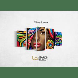Cuadro Mujer Afro tamaño 1 metro 10 de allto x 70 de alto