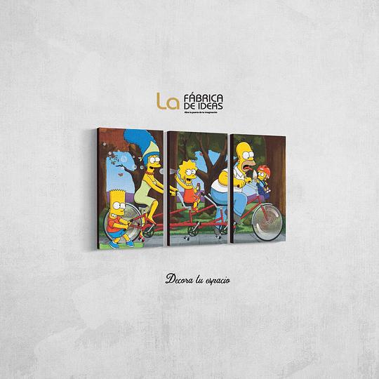Cuadro Los Simpsons Tamaño  80 de ancho x 50 de alto