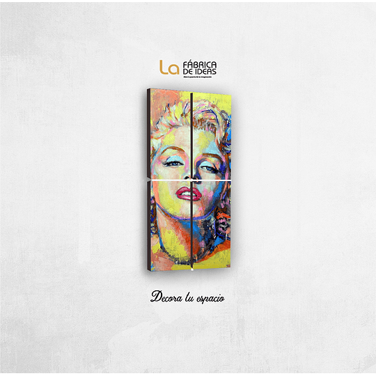 Cuadro Marilyn Monroe Tamaño 1 metro de alto x 50 de ancho