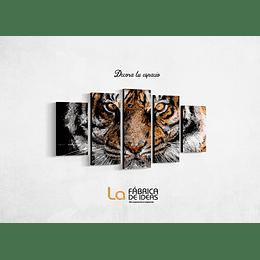 Cuadro tigre Amarillo tamaño 110 x 59