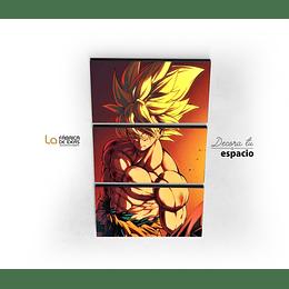 Cuadro Dragon Ball Goku Super Saiyan 3 Partes