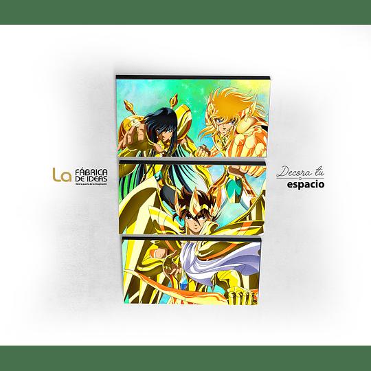 Cuadro Seiya , Shiryu y Hyoga Caballeros Dorados