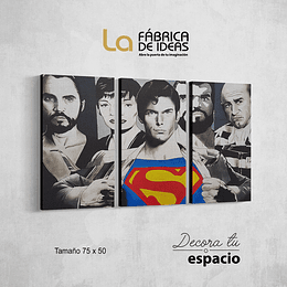 Cuadro Superman Vintage 3 piezas