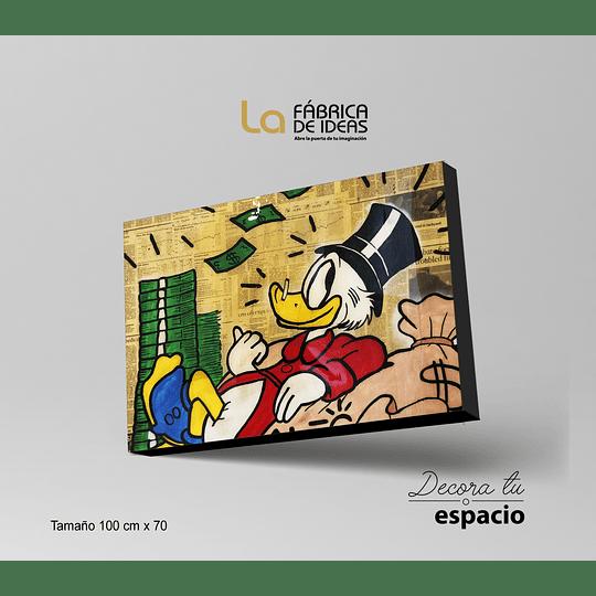 Cuadro Alec Monopoly Tio Rico 3 piezas 100 x 70 cm