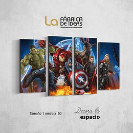 Cuadro Avengers Set de 4
