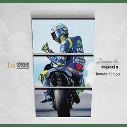 Cuadro Valentino Rossi 75 x 50
