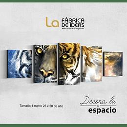 Cuadro Animales Tigre 1 metro 25 x 50
