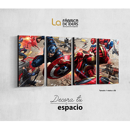 Cuadro Avengers Civil War set de 4
