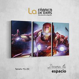 Cuadro de Iron Man set de 3 piezas