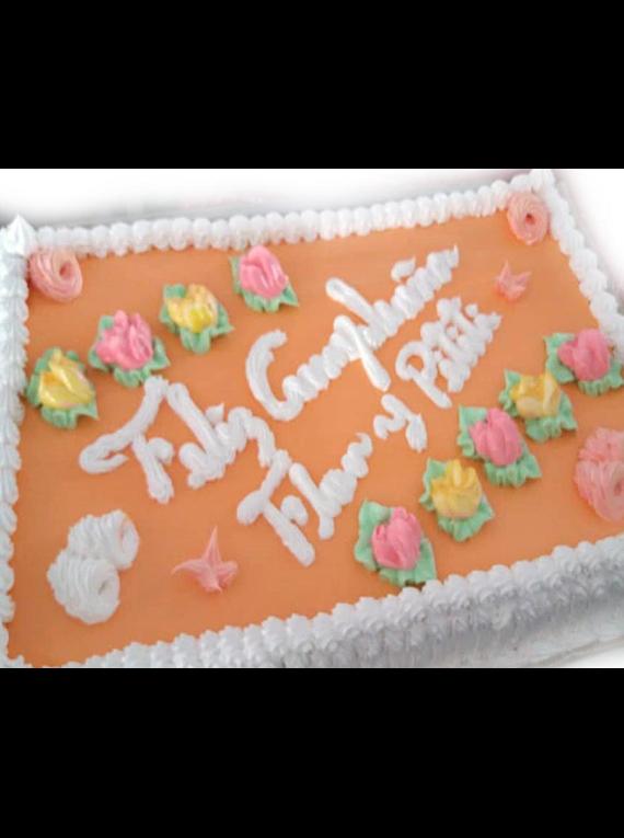 Cake de Capuccino - Personalizado -  Sabor Vainilla - 50x35cm