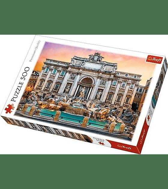 Puzzle Trefl 500 Pcs - Fontanna di Trevi, Roma