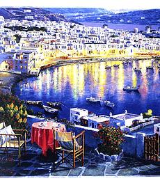 Puzzle Trefl 1500 Pcs - Mykonos at Sunset