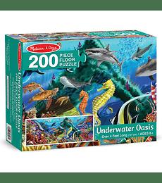 Puzzle de Piso Fondo Oasis Submarino 200 Piezas