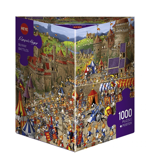 Puzzle HEYE Bunny Batltles 1000 piezas