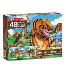 Puzzle de Piso Tierra de los Dinosaurios 48 Piezas