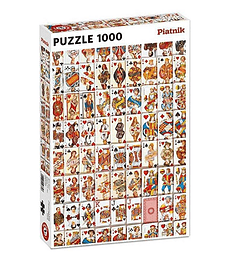 Puzzle 1000 Pcs - Playing Cards Piatnik