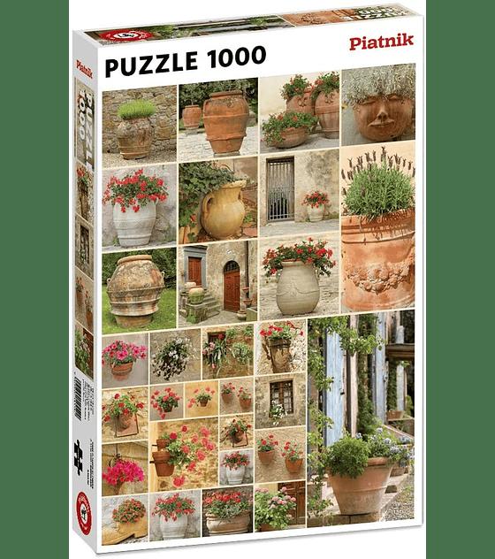Puzzle 1000 Pcs - Clay pots with Flowers Piatnik