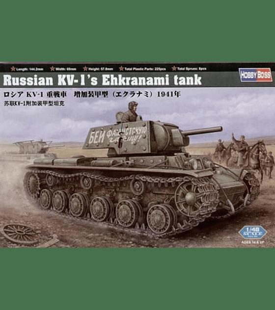 HobbyBoss Russian KV-1 Ehkranami tank