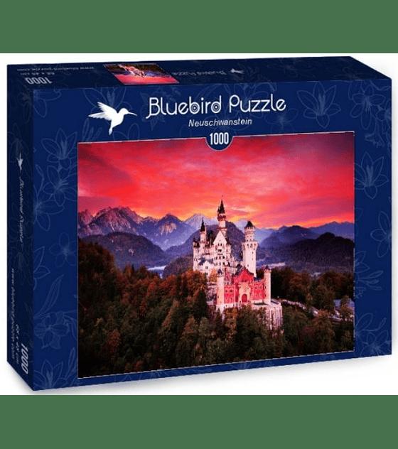 Puzzle 1000 Pcs - Neuschwanstein Bluebird