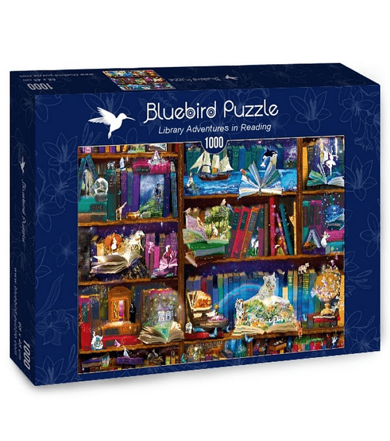 Puzzle 1000 Pcs - Library Adventures in Reading Bluebird