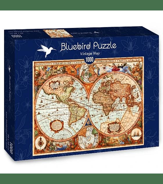 Puzzle Bluebird 1000 pcs Vintage Map