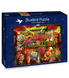 Puzzle 1000 Pcs - Flower Market Stall Bluebird