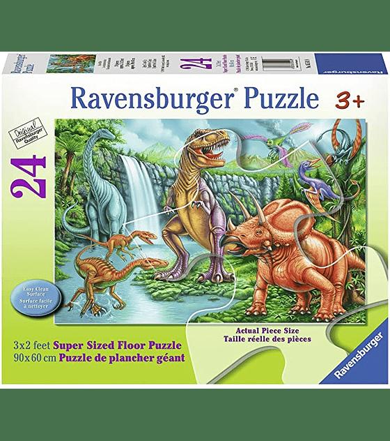 Puzzle 24 XXL Pcs - Cascada de los Dinosaurios Ravensburger