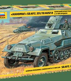 ZVEZDA German Personnel Carrier With  37-mm Gun SD.KFZ.251/10 AUSF.B