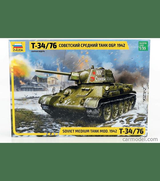 ZVEZDA Soviet Medium Tank MOD. 1942 T-34/76
