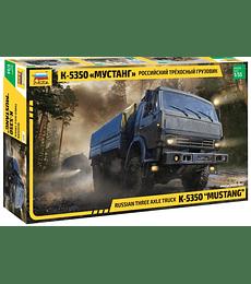 "ZVEZDA Russian Three Axle Truck K-5350 ""Mustang"""