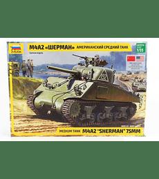 "ZVEZDA Medium Tank M4 A2 ""Sherman"" 75MM"