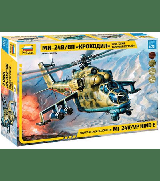ZVEZDA Soviet Attack Helicopter MI-24V Hind E