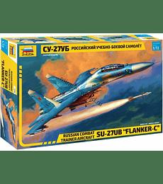 "ZVEZDA Russian Combat Trainer Aircraft SU-27UB ""Flanker C"""