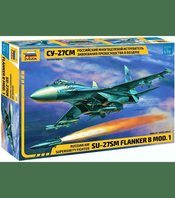 "ZVEZDA Russian Air Superiority Fighter SU-27SM ""Flanker B MOD. 1"""