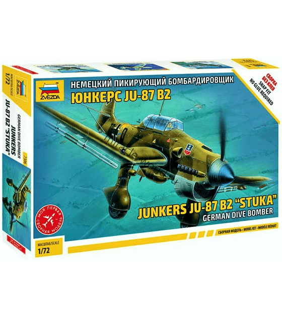 ZVEZDA German Dive Bomber Junkers JU-87 B2 Stuka