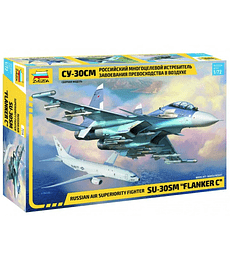 "ZVEZDA Russian Air Superiority Fighter SU-30 SM ""Flanker C"""